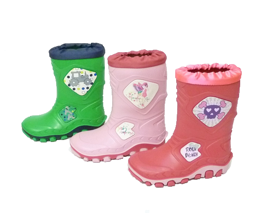 Kid's Rain Boots with Automatic CuffS150 Sizes 22 - 35