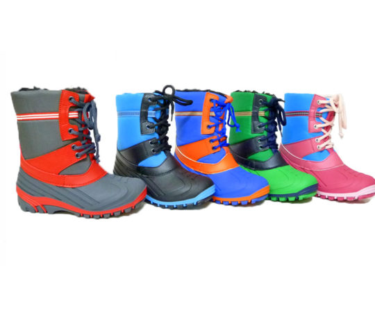 Kid's Boots with Warm Lining1654 Sizes 24 - 35