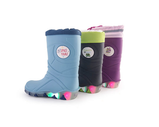 Kid's Rain Boots with LightS250 Sizes 24 -29