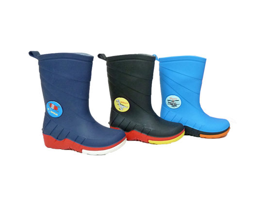 Boy's Rain Boots with PrintF1100 Sizes 24 - 35