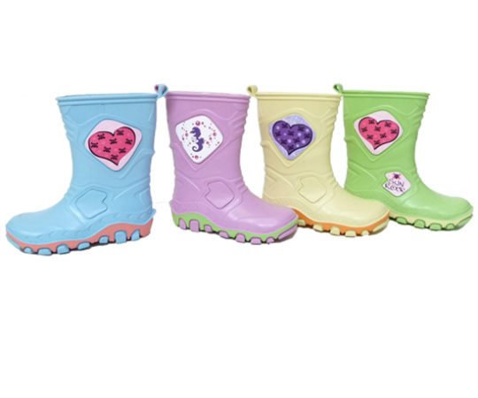 Kid's Rain Boots with PrintS100 Sizes 22 - 35