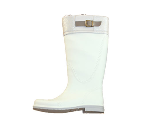 womans-boot-white-with-fashionable-buckle
