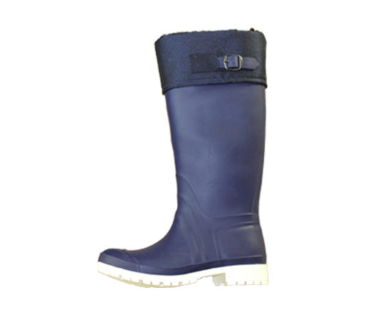 womans-boot-with-buckle-dark-blue